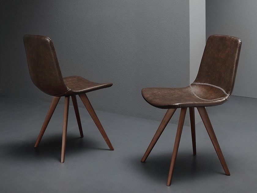 Eco-leather chair BASEBALL by La seggiola
