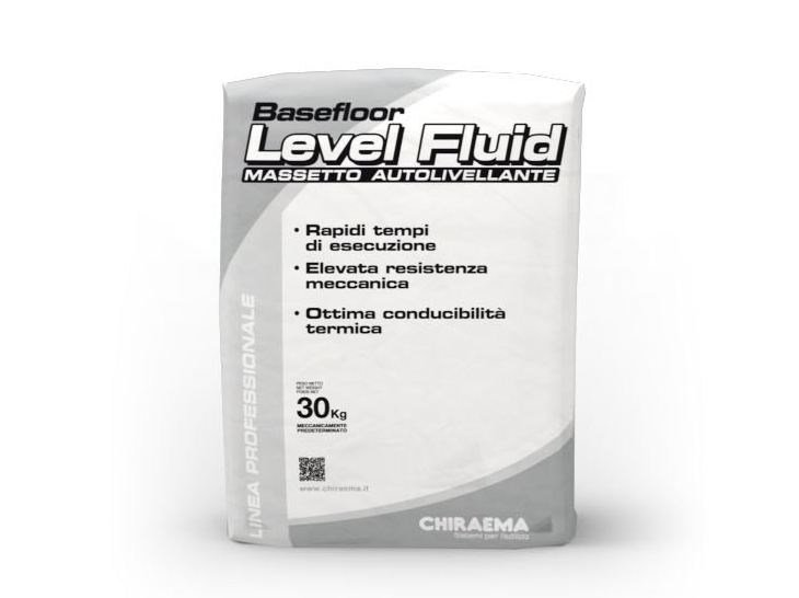 Screed and base layer for flooring BASEFLOOR LEVEL FLUID by CHIRAEMA