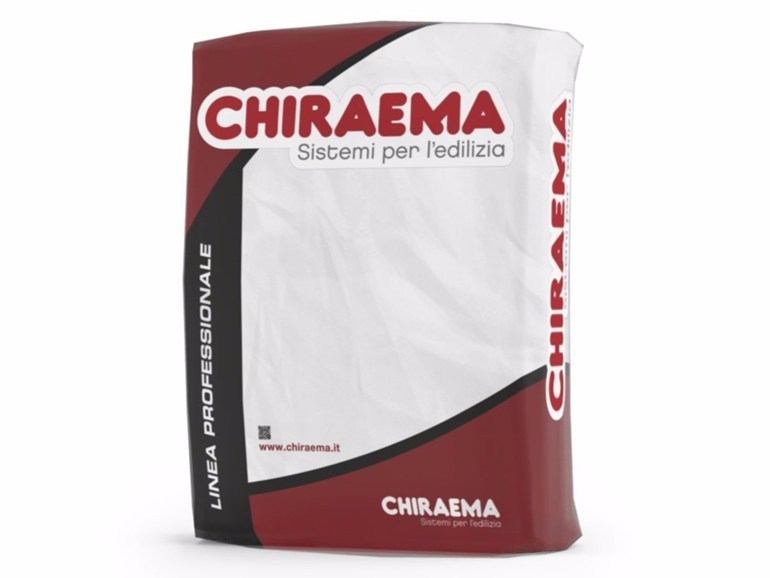 Hydraulic and hydrated lime based plaster BASEFOND M by CHIRAEMA