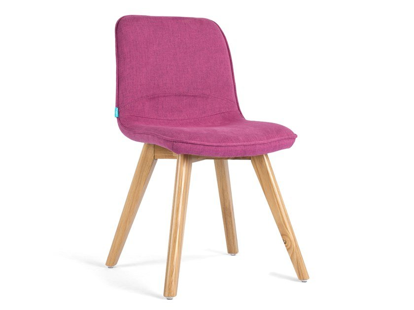 Upholstered fabric chair BASI by meeloa