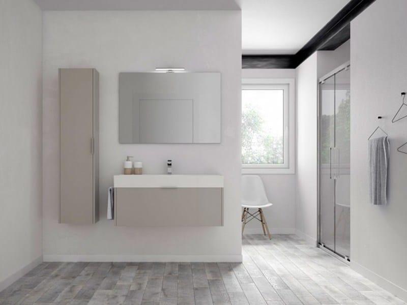 Arredo bagno completo in legno BASIC 01 | Mobile lavabo by Idea