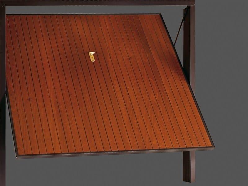Up-and-over wooden garage door BASIC 12-16 by DE NARDI