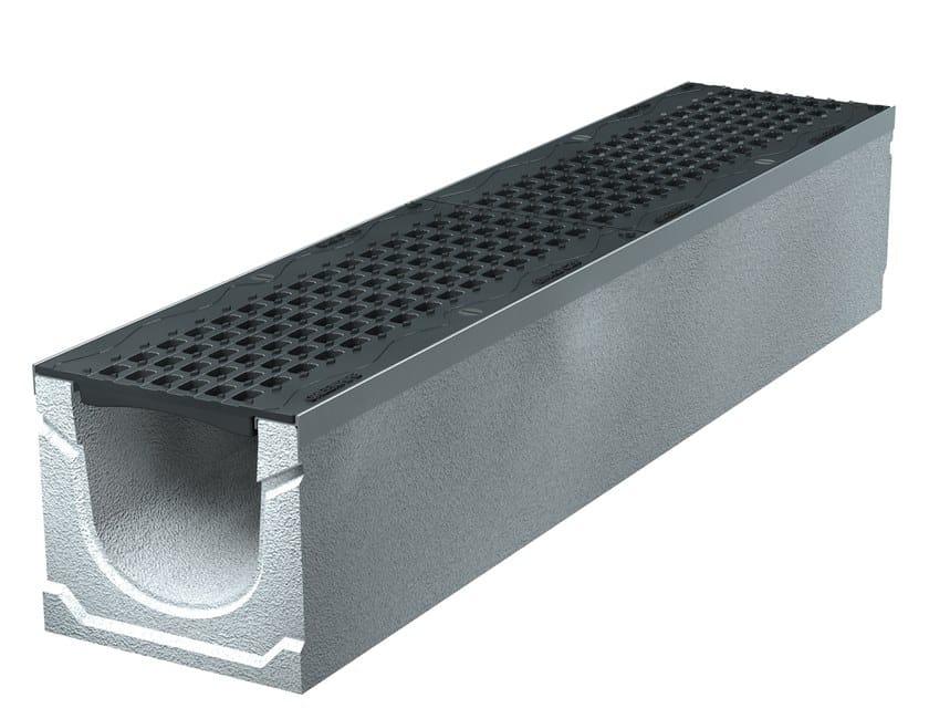 BASIC+ 150 H185   Elemento e canale di drenaggio Canale Basic+ 150 H185 con griglie in ghisa sferoidale C250
