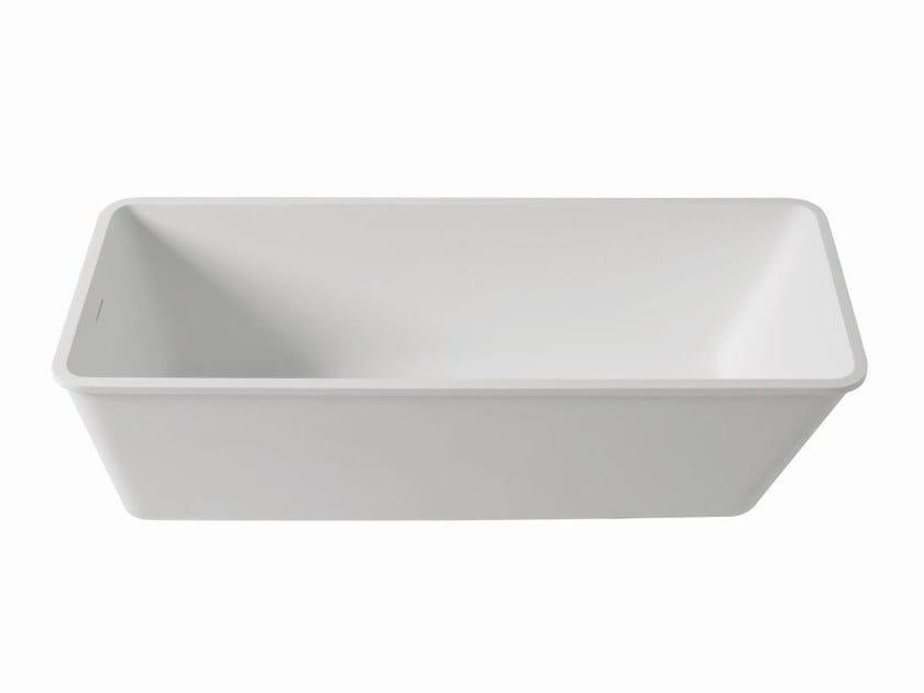 Rectangular built-in Krion® bathtub BASIC | Bathtub by Systempool