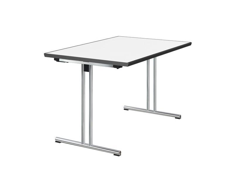 Rectangular HPL meeting table BASIC by Brunner