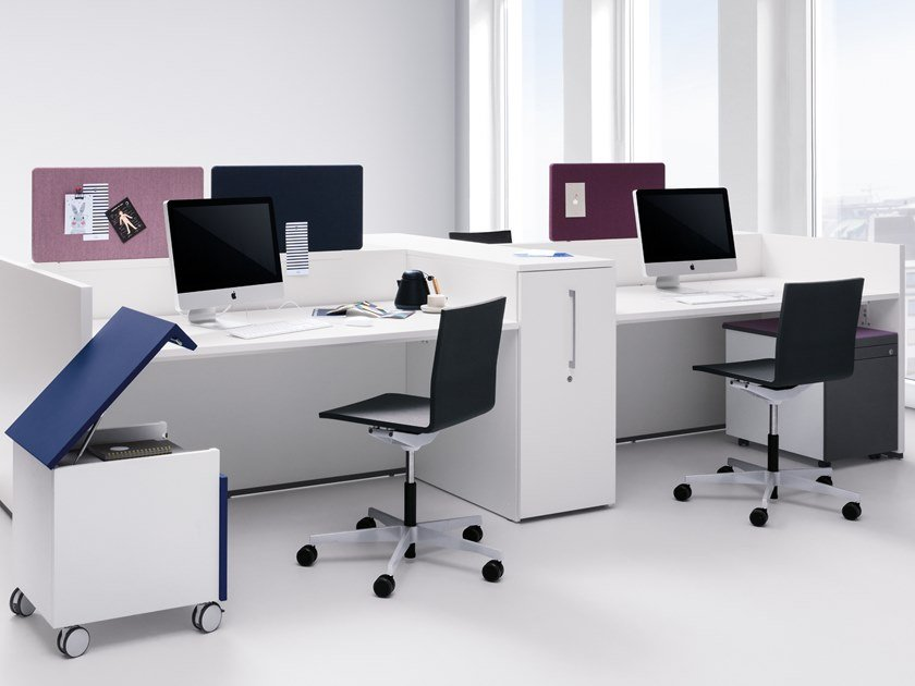 Multiple office workstation BASIC C | Office workstation by werner works