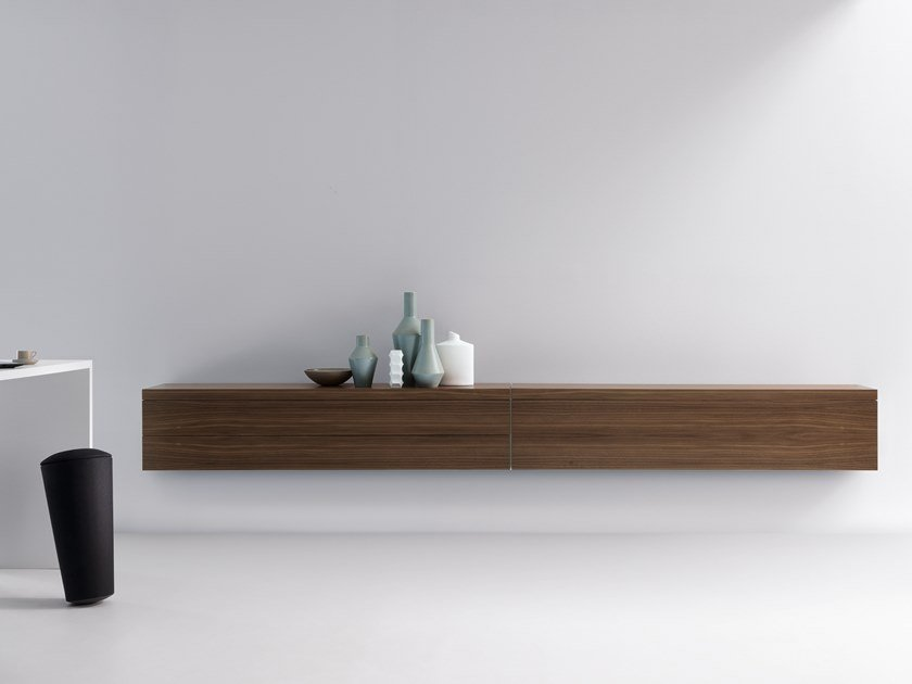 Suspended sideboard with drawers BASIC CAP | Suspended sideboard by werner works