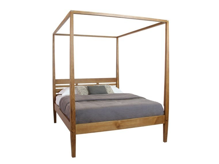Cama de metal revestido con dosel BED LED By Filodesign diseño Marco ...