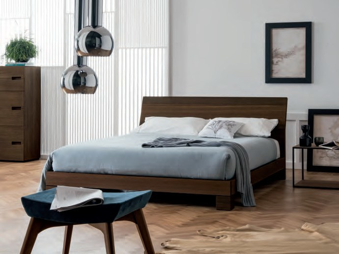 Oak double bed BASIC by Dall'Agnese