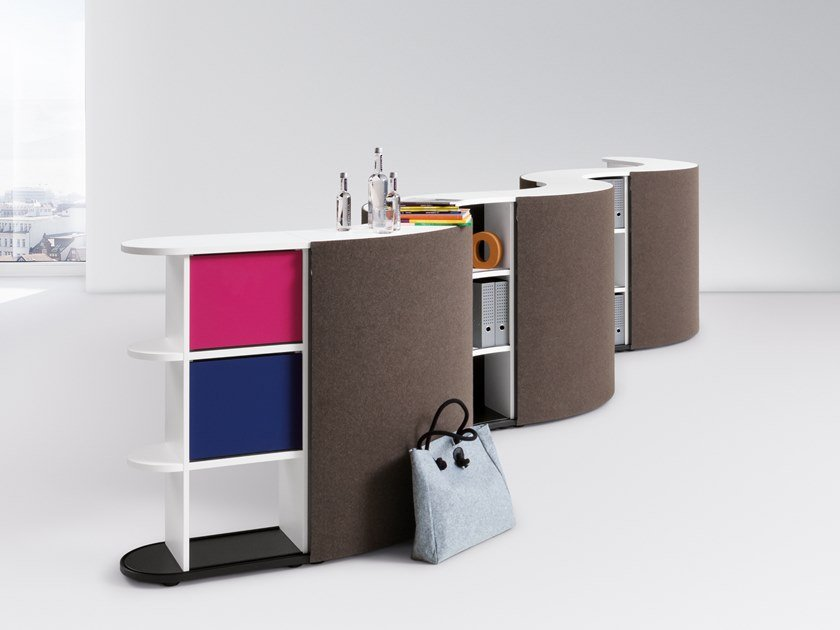 Modular Office reception desk BASIC FLOW - COUNTER by werner works