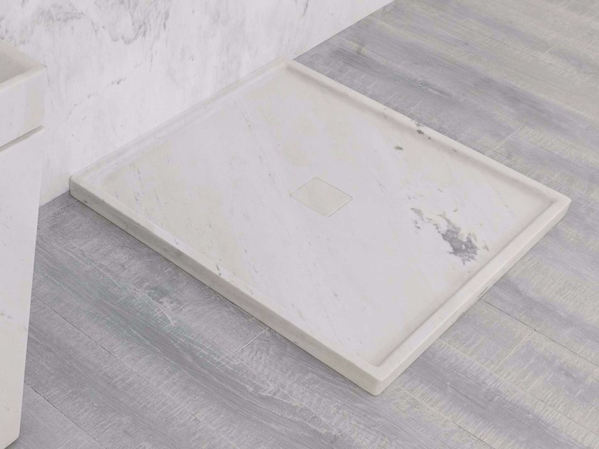 Square natural stone shower tray BASIC by L'antic Colonial