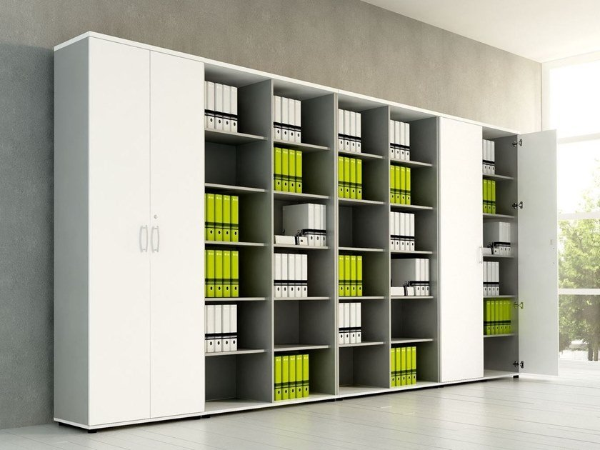 Office storage unit with hinged doors BASIC | Office storage unit by MDD