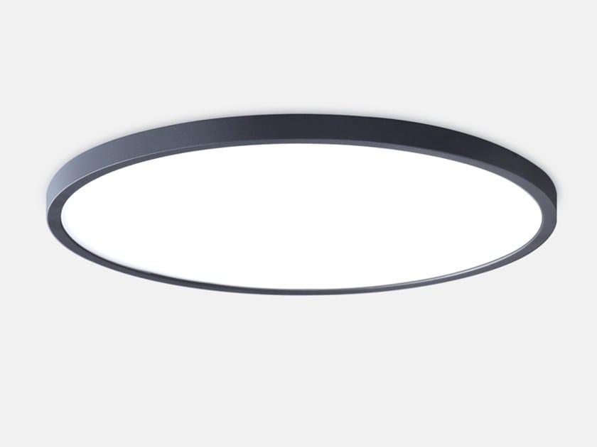 LED semi-inset ceiling lamp BASIC SEMI-RECESSED M7 by Lightnet