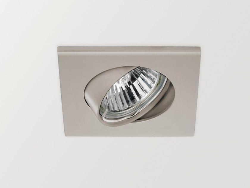 Adjustable square recessed aluminium spotlight BASIC TILT   Square spotlight by Arkoslight