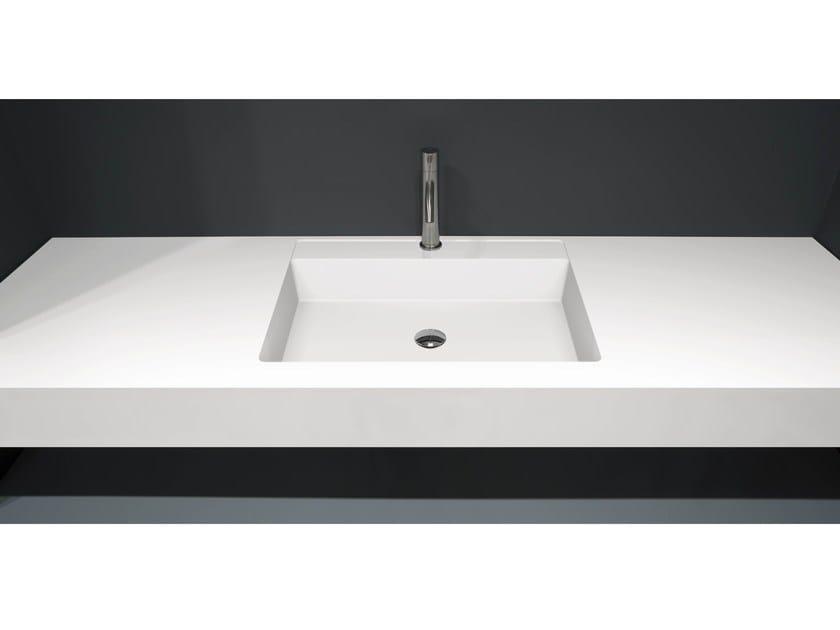 Flumood® washbasin countertop BASICO by Antonio Lupi Design