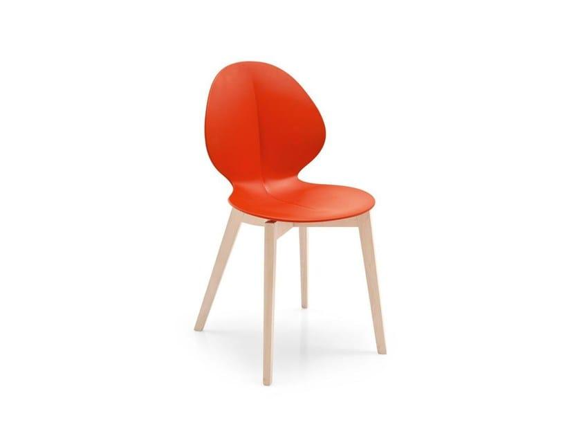 Polypropylene chair BASIL | Polypropylene chair by Calligaris