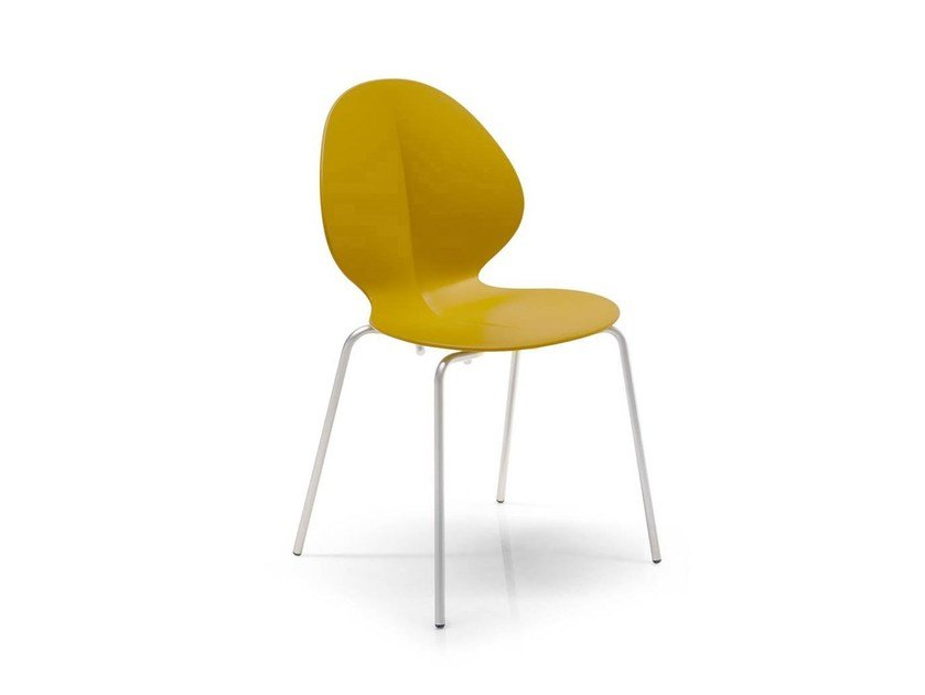 Polypropylene chair BASIL | Stackable chair by Calligaris
