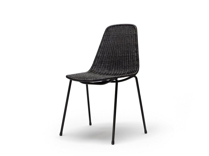 Sedia impilabile in rattan BASKET by Feelgood Designs