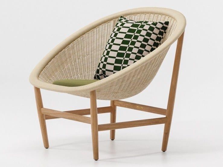 Natural fibre garden armchair BASKET | Garden armchair by KETTAL