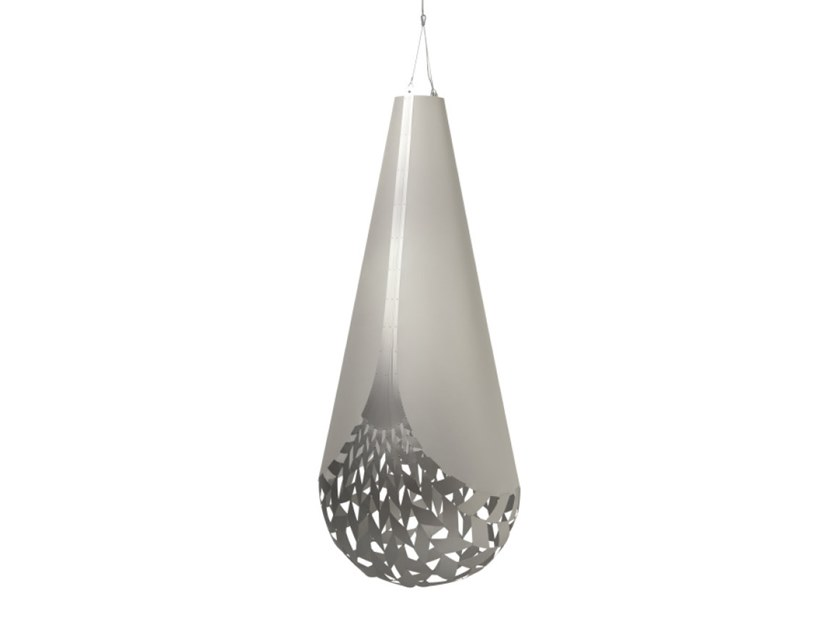 Aluminium pendant lamp BASKET | Aluminium pendant lamp by David Trubridge