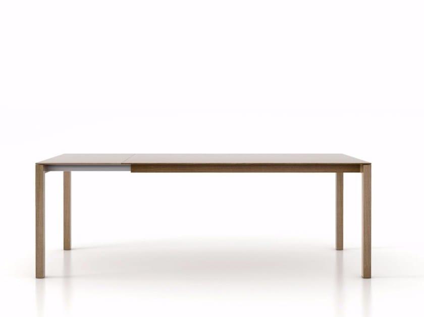 Extending rectangular oak table BASS   Oak table by Punt