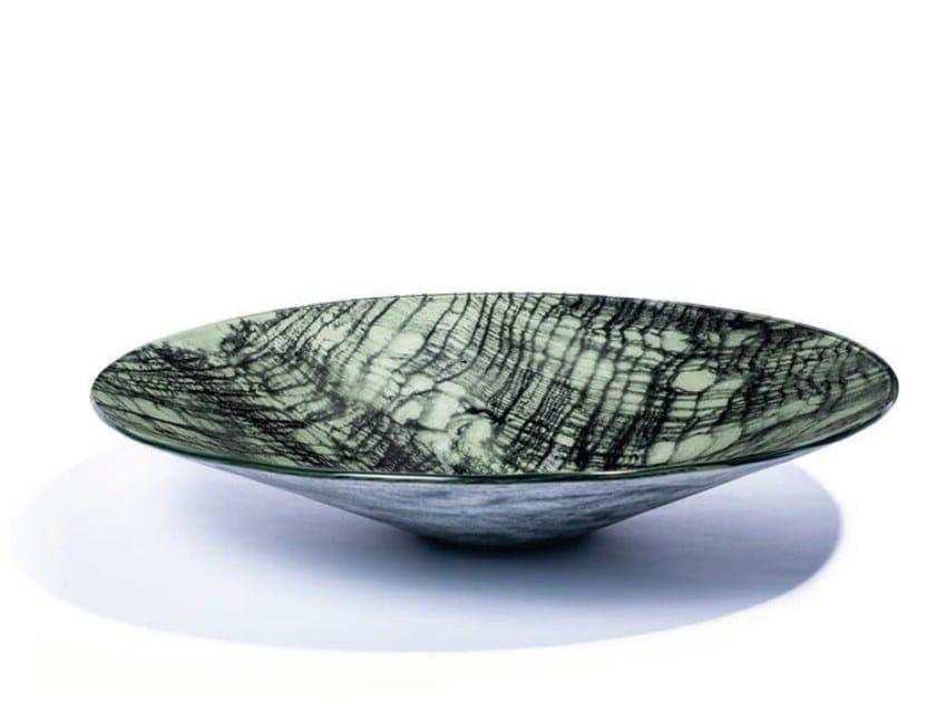 Centro Tavolo In Vetro.Glass Centerpiece Bateia Trama Verde By Gardeco Design