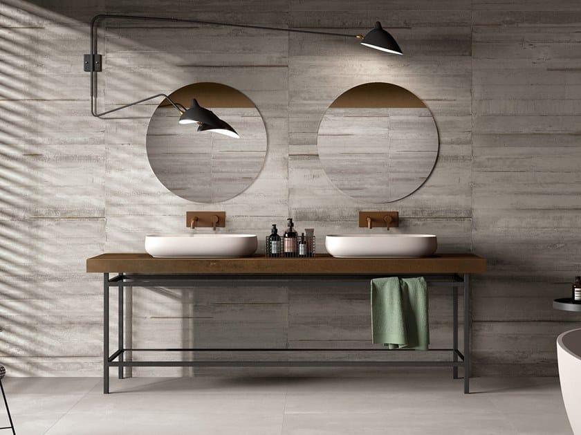 BATH DESIGN | Piano lavabo ABK BATHDESIGN 08 LAB325 Metal Ash Base AshINTERNO9 Rust washbasin top