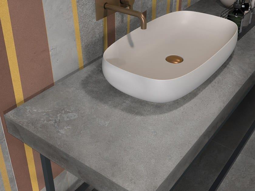 BATH DESIGN | Piano lavabo ABK BATHDESIGN 14 ALPES dec Avangarde Lead washbasin top ALPES Lead