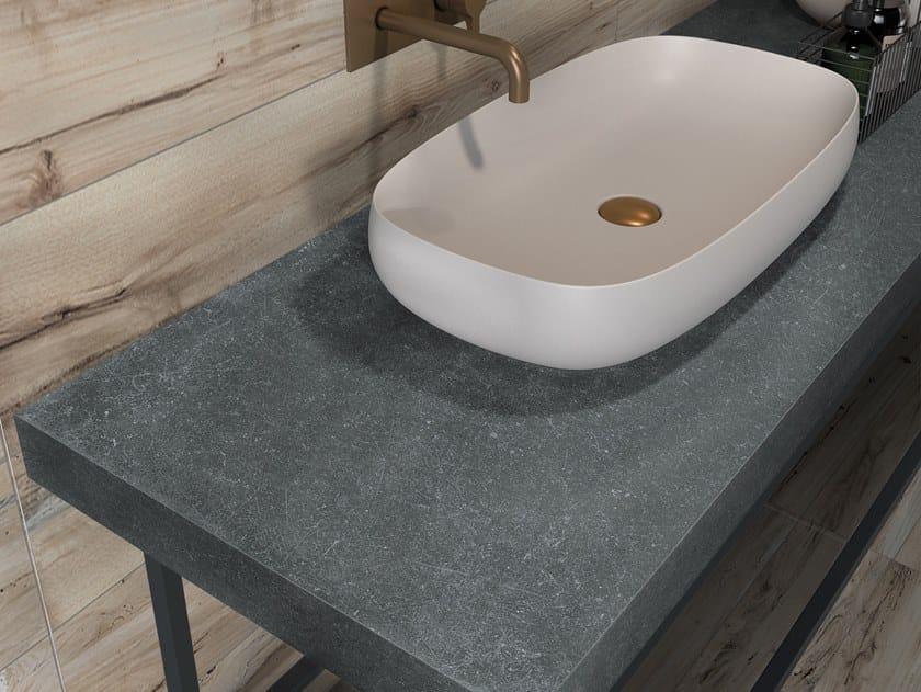 BATH DESIGN | Piano lavabo ABK BATHDESIGN 13 NEST Beige washbasin top GENT  Dark