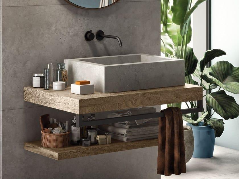 Countertop rectangular single porcelain stoneware washbasin BATH DESIGN | Countertop washbasin by Flaviker