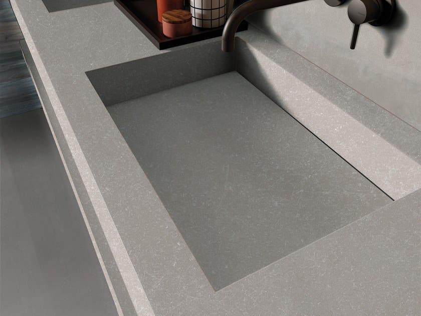 BATH DESIGN | Lavabo doppio ABK BATHDESIGN 04 INTERNO9 Silver NEST Blue integrated top 2 washbasins washbasin top GENT Ash