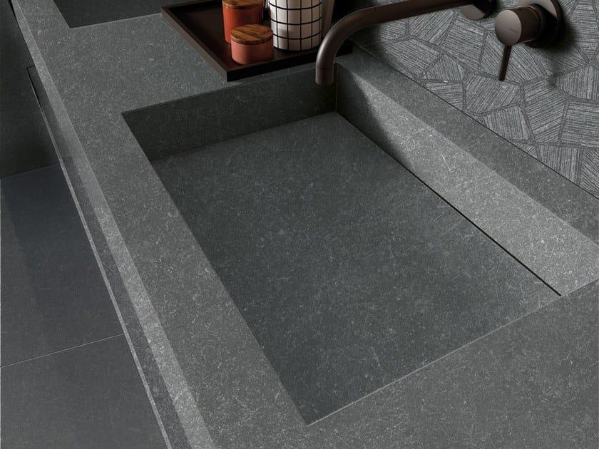BATH DESIGN | Lavabo doppio ABK BATHDESIGN 05 GENT Dark Dark Sliver  integrated top 2 washbasins washbasin top GENT Ash
