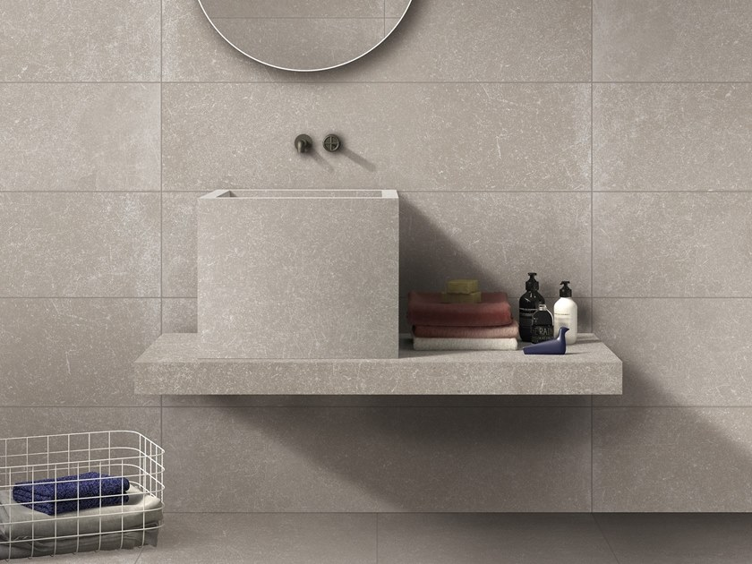 BATH DESIGN | Lavabo quadrato ABK BATHDESIGN 26 GENT Rope washbasin top semi pedestal washbasin