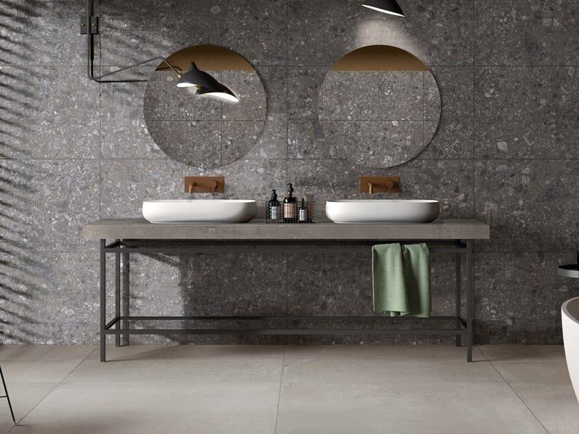 Piano lavabo doppio in gres porcellanato BATH DESIGN | Piano lavabo by Ariana Ceramica