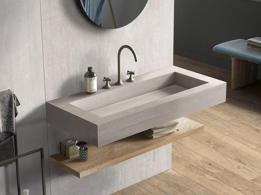 Rectangular single wall-mounted porcelain stoneware washbasin BATH DESIGN | Washbasin by Flaviker