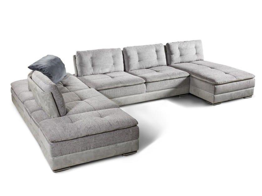 Corner modular fabric sofa BAULI | Fabric sofa by Nieri