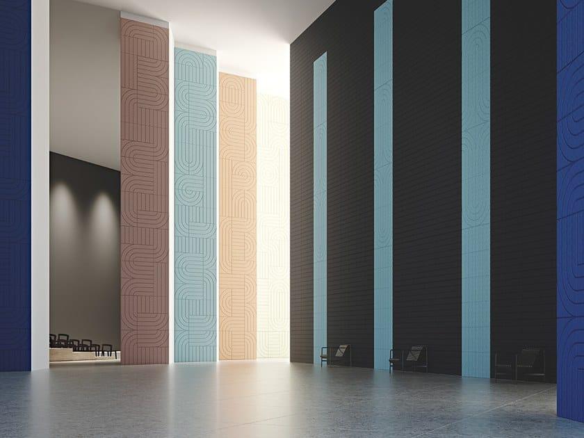 Pannello acustico a parete in lana di legno BAUX ACOUSTIC PANEL ARCH by BAUX