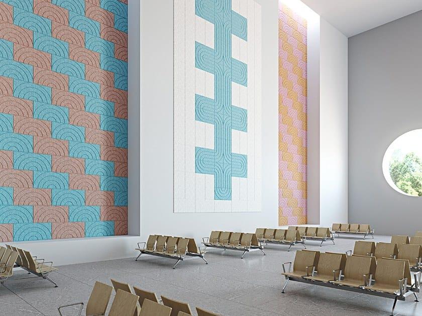 Wood wool decorative acoustical panel BAUX ACOUSTIC PANEL CURVE by BAUX