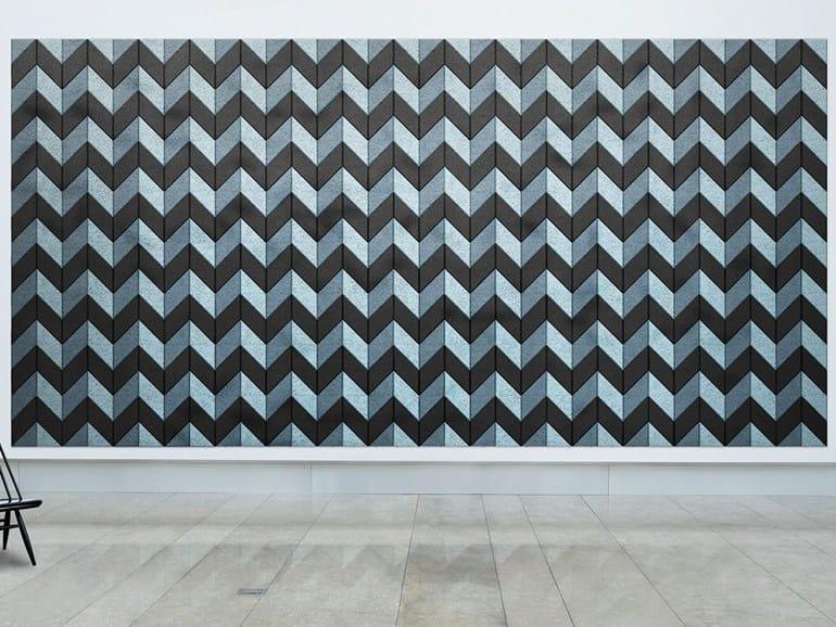 Acoustic Wood Wool Tiles BAUX ACOUSTIC TILES PARALLELOGRAM by BAUX