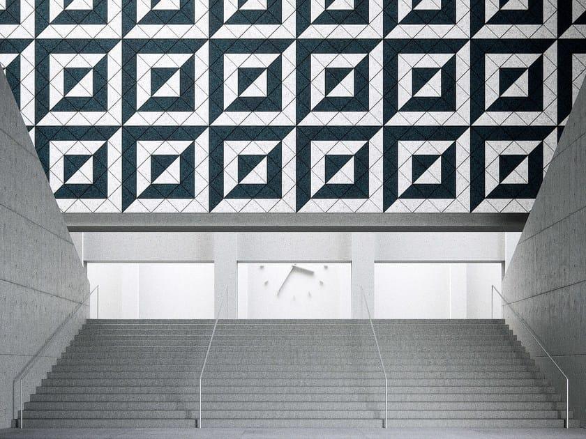 Acoustic Wood Wool Tiles BAUX ACOUSTIC TILES  TRIANGLE by BAUX