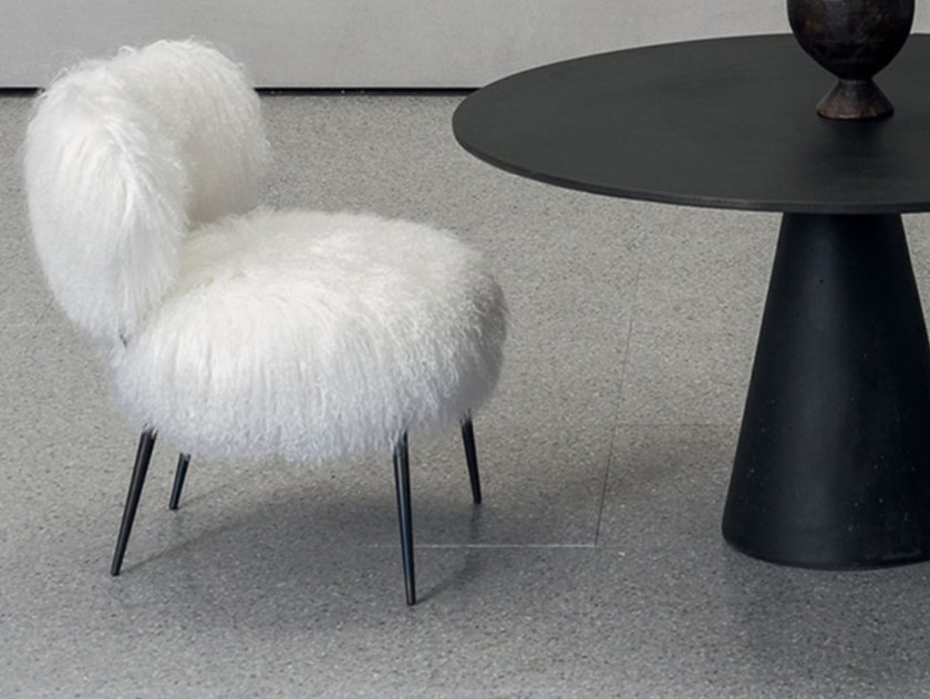 Upholstered easy chair BAXTER - NEPAL White by Archiproducts.com