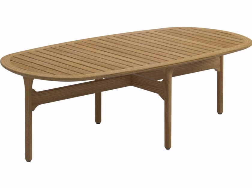Teak garden side table BAY | Coffee table by Gloster