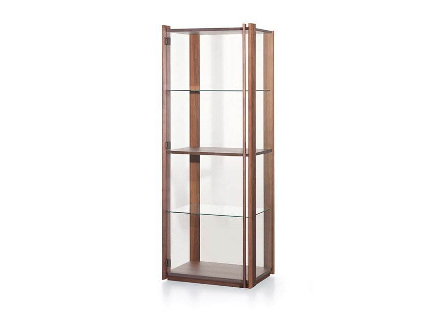 Wood and glass bookcase / display cabinet BAY by Pacini & Cappellini