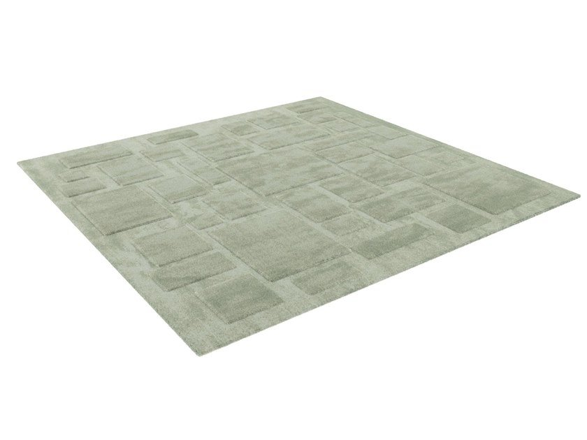 Square fabric rug BABYLONE by HUGUES CHEVALIER