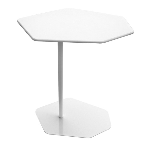 Contemporary style hexagonal HPL side table BAZALTO | Side table by MDD