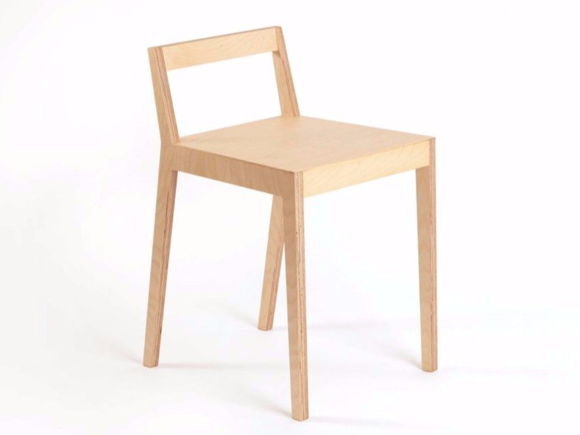 Multi-layer wood chair BB | Chair by MALHERBE EDITION