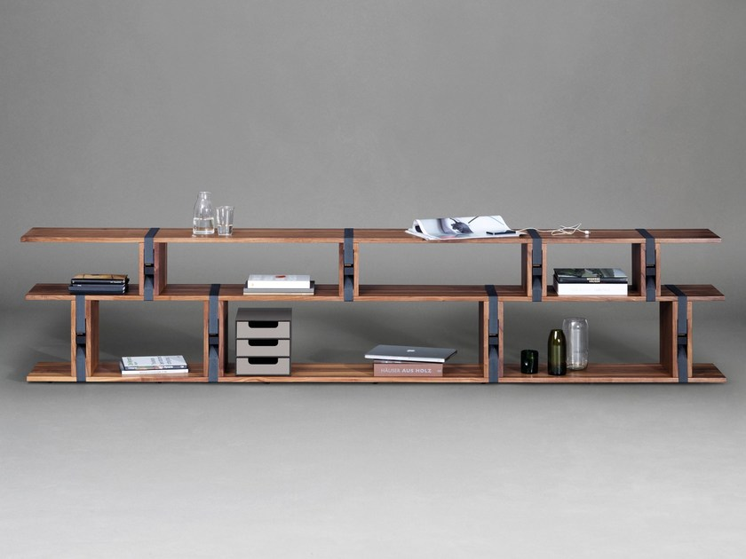 Open sectional wooden bookcase BB21 by Janua