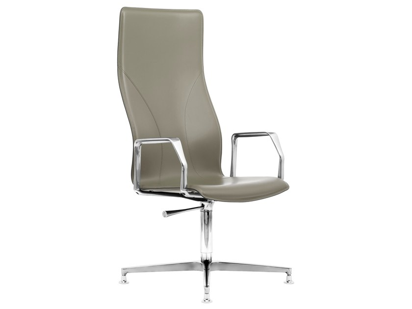Height-adjustable Cuoietto leather executive chair BB641.12 | Executive chair by Kleos