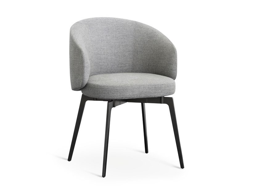 Upholstered fabric chair BEA by Lema