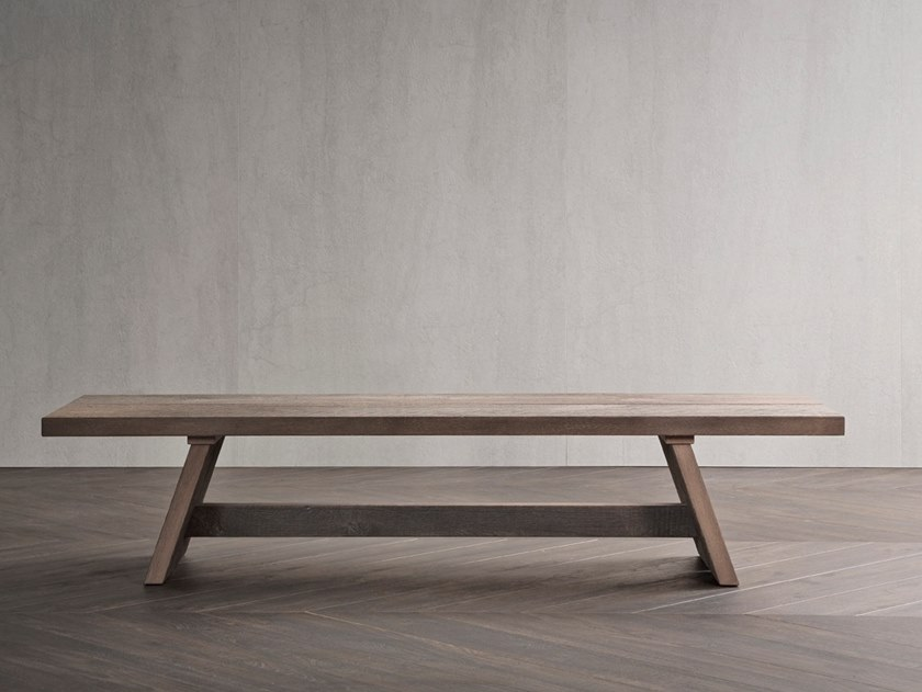 Wooden bench BEAM by Flou